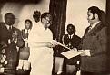 Jn. Claude Duvalier et  Bob Germain (Ministre de la Santé Publique)
