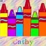 Crayons at schoolCathy
