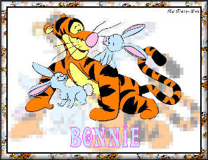 Tigger and 2 BunniesBonnie