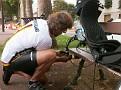 Manfred repairs broken chain