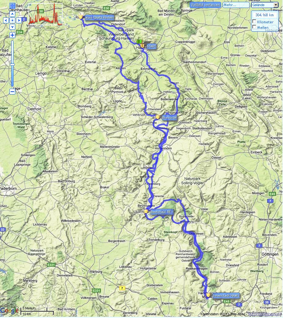 Route 2. Große Weserrunde 2011