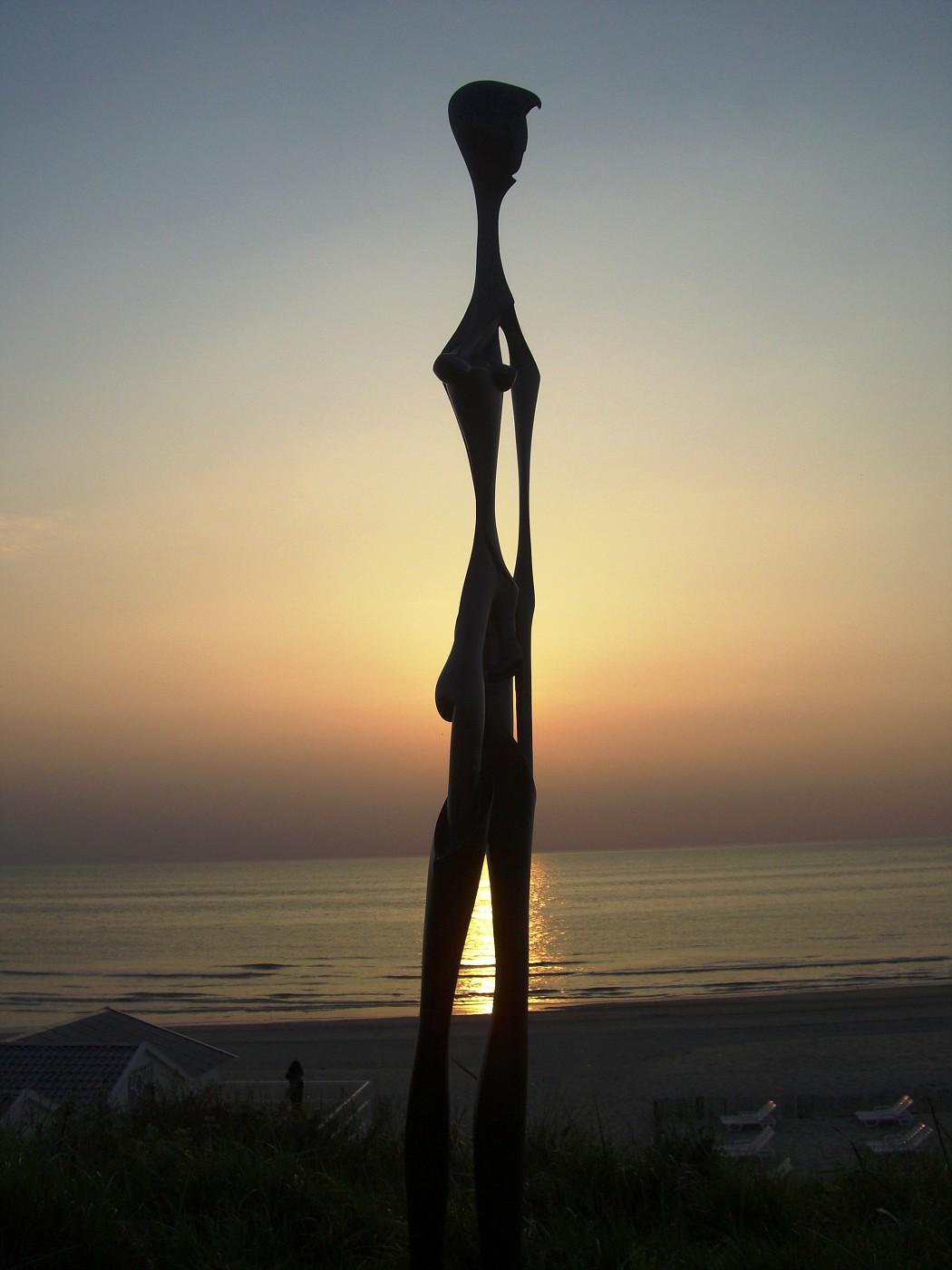 Statue at Zandvoort beach