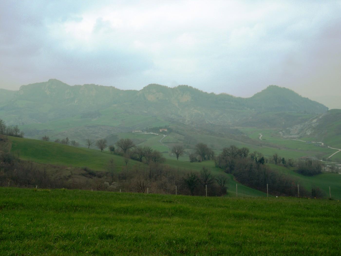 Paesaggio nei pressi di San Leo