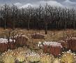 Landschaft mit Grasern