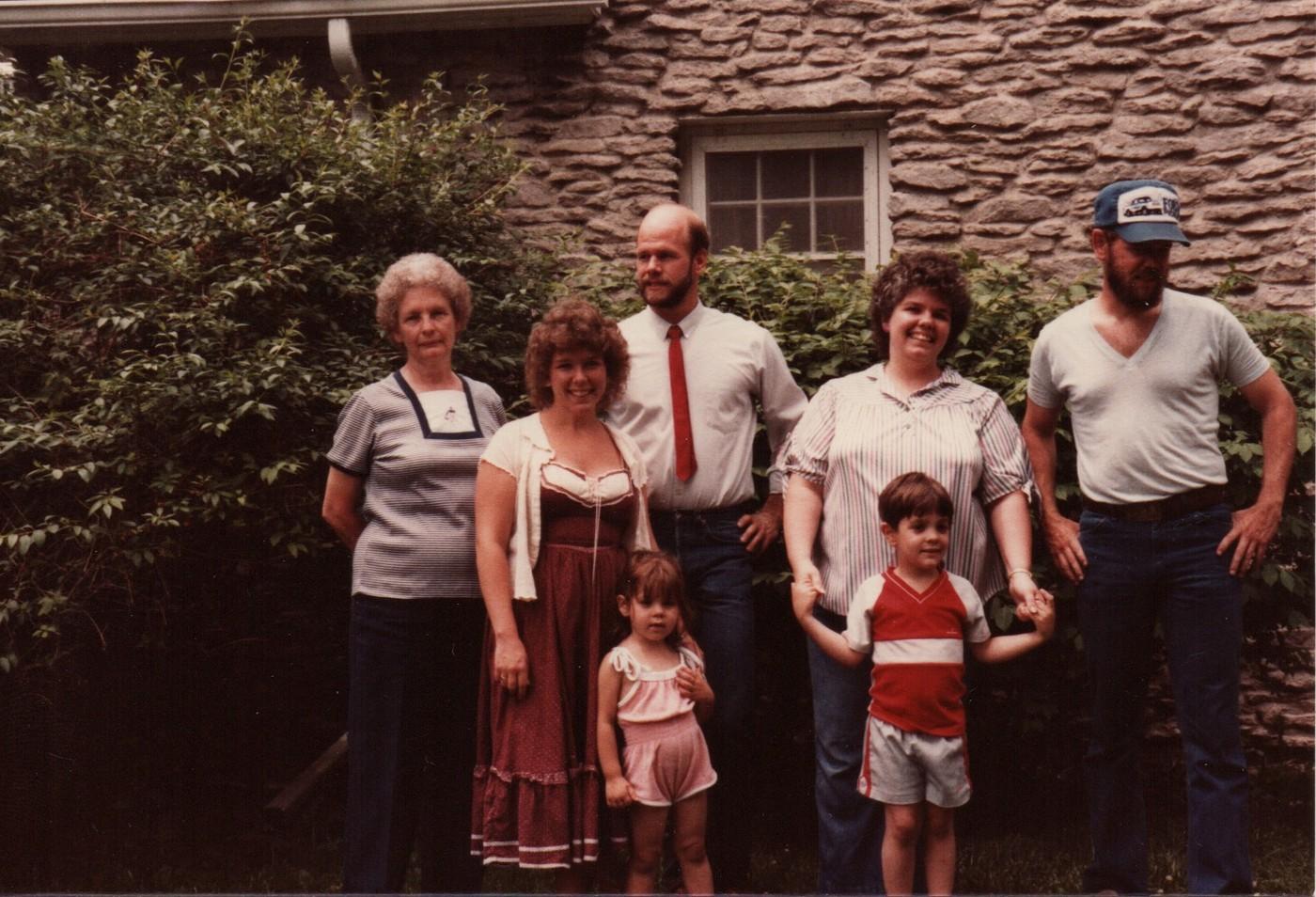 19840600 Shirley Laura David Ponceby Kim Gayle Chris Icofono Ed Ponceby