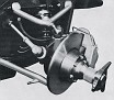 Conventional front suspension...
