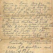 Pioneer Tenn August 26, 1921
