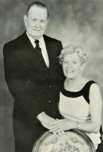 Frederick Richard Abel & Mildred Helen Ondris Abel, 50th wedding anniversary, 17 JUL 1989. Photo from FrederickAbel15, Ancestry.com.
