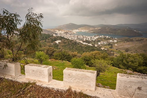 View to Skala from Chora