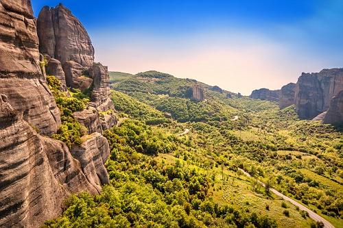 Meteora, view from Agios Nikolaos Anapaphsas Monastery