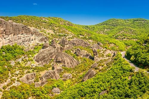Meteora, view from Rousanou monastery
