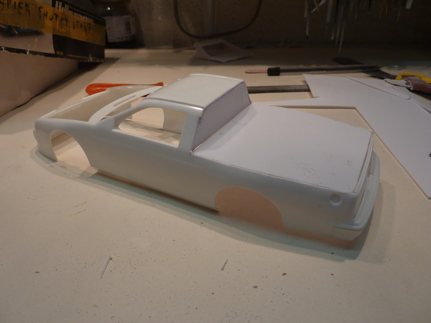 Ford T Bird Pickup racer Bonneville ( Ex Nascar) terminée  Photo-vi