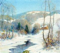 Stream in a Winter Landscape [undated]