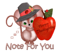 Note for You - ThanksgivingMouse