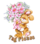 Tag Please - BunnyWithFlowers