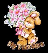 My Pleasure - BunnyWithFlowers