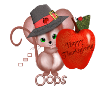 Oops - ThanksgivingMouse