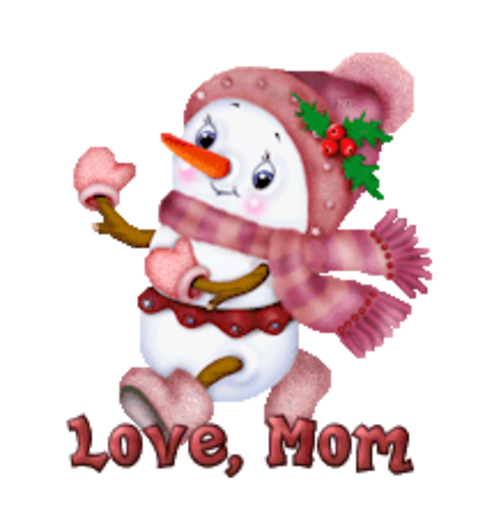 Love, Mom - CuteSnowman