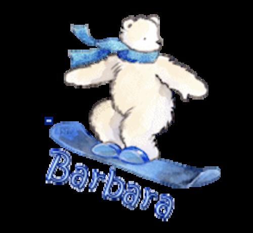 Barbara - SnowboardingPolarBear
