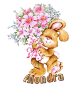 Alondra - BunnyWithFlowers