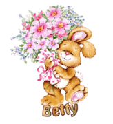 Betty - BunnyWithFlowers