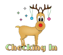 Checking In - ChristmasReindeer