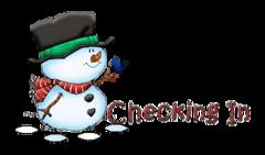 Checking In - Snowman&Bird