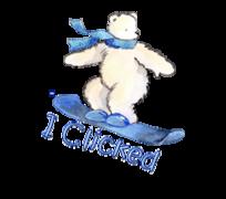 I Clicked - SnowboardingPolarBear