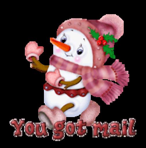 You got mail - CuteSnowman