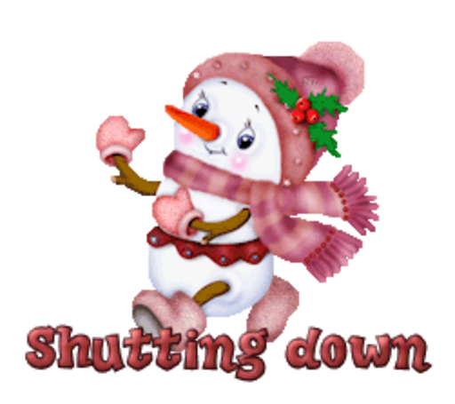 Shutting down - CuteSnowman