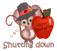 Shutting down - ThanksgivingMouse
