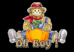 Oh Boy - AutumnScarecrowSitting