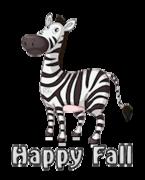 Happy Fall - DancingZebra