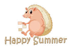 Happy Summer - CutePorcupine