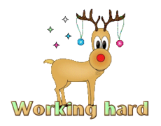 Working hard - ChristmasReindeer
