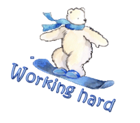 Working hard - SnowboardingPolarBear