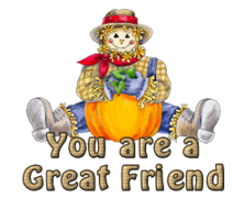 You are a Great Friend - AutumnScarecrowSitting