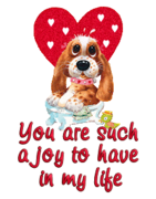 You are such a joy to have in my life - ValentinePup2016