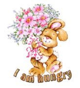 I am hungry - BunnyWithFlowers