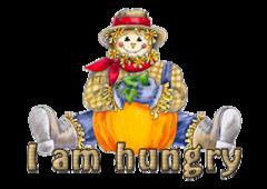 I am hungry - AutumnScarecrowSitting