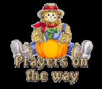 Prayers on the way - AutumnScarecrowSitting