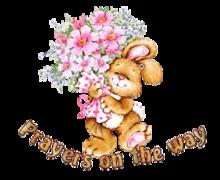 Prayers on the way - BunnyWithFlowers
