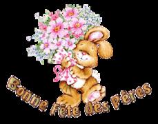 Bonne Fete des Peres - BunnyWithFlowers