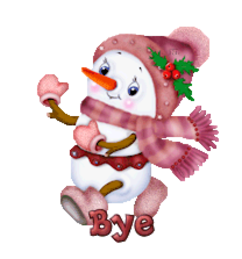 Bye - CuteSnowman