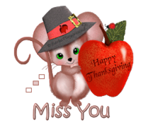 Miss You - ThanksgivingMouse