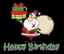 Happy Birthday - SantaDeliveringGifts