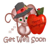 Get Well Soon - ThanksgivingMouse