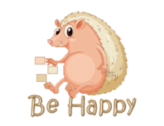 Be Happy - CutePorcupine