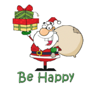 Be Happy - SantaDeliveringGifts