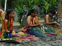 Girls Weaving in Traditional Garb